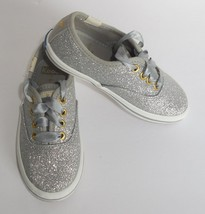 Kate Spade Keds Champion Glitter Silver Girls 5 Toddler Sneakers Shoes New - $37.61