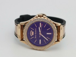 Juicy Couture Black Label Swarovski Crystal Accented Rose Gold-Tone JC/1... - $72.75