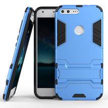 Kickstand Tough Dual Layer Protective Case For Google Pixel 5.0inch - Blue  - $4.99