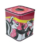 Looney Tunes Pepe Le Pew & Penelope Tin Bank Licensed NEW!— More Fun Cha... - $5.93
