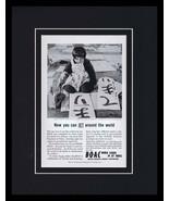 1960s BOAC Jet Around the World Framed 11x14 ORIGINAL Vintage Advertisem... - $32.36