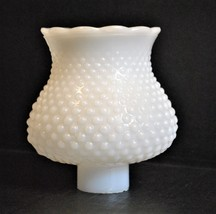 Vintage Milk Glass Lamp Shade for Wall Sconce - Hobnail Ruffle - $6.79