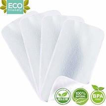 Organic Bamboo Burp Cloths - Thickening 2 Layer Ultra Absorbent Burping Cloth fo