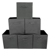 Uzou Aufbewahrungsboxen, faltbar, Stoff, 6 Stück grau (6er-Pack Grau) - $63.12