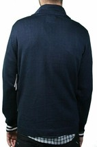 LRG Mens Bulwarks Navy Cardigan Knit English L Lifted Trees Sweater NWT image 2