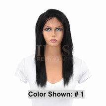 "Jk Trading Iris Front And Back Lace 100% Remy Human Hair Wig ""Sister 16 Inch"" - $189.99"