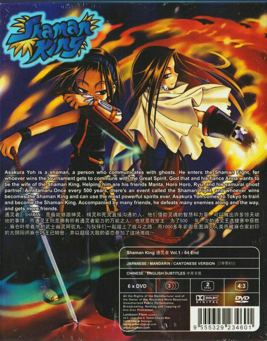 Shaman King (Chapter 1 - 64 End) ~ 6-DVD SET ~ English Subtitle Ship From USA