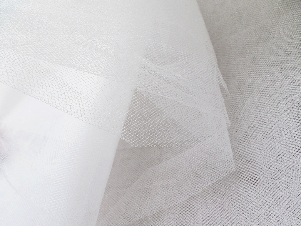 Tulle Fabric, White Tulle Piece Goods, White Netting For Wedding, Craft, Party