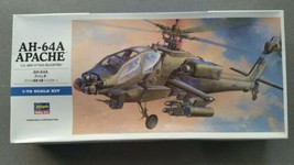 Model Hasegawa AH-64A Apache 1/72 D6 Plastic Kit US Army Attack Helicopter - $14.99