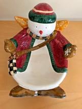 Debbie Mumm Oneida Sakura Snowman Snow Angel Village Nibbler Serving Bow... - $12.86