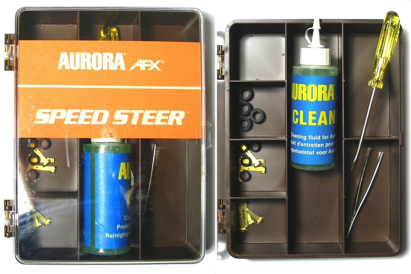 1981 Aurora Factory SpeedSteer Slot Car Service Center Tune Up Parts Brown - $28.70