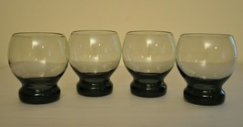 Round Charcoal Colored Goblet Glasses With Solid Glass Base (Set Of 4) - $24.75