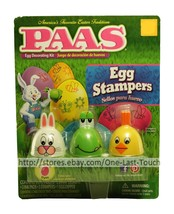 PAAS* 16pc Decorating Kit EGG STAMPERS Bunny+Frog+Chicks EASTER Ink Pads... - $4.94