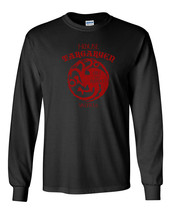084 House Targaryen Long Sleeve Shirt dragon sigil thrones fire vintage retro - $19.99+