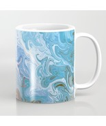 Coffee Mug Cup 11oz 15oz Made in USA Design 52 abstract blue art L.Dumas - $19.99+