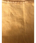 "Vtg Thermal Yellow Blanket  89""x70"" Satin Like Edge - $29.02"