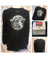 Nike Chicago White Sox Mens XL 2005 World Series Black Long Sleeve Shirt... - $22.05