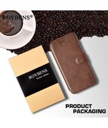 Roybens® For iPhone 8 Leather Case Business High Quality PU Leather Card... - $15.62