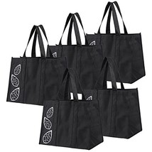 Collapsible Shopping Bags Set of 5 Piece Large Reusable Reinforced Tote ... - $15.44