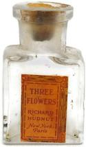 Vintage Three Flowers Richard Hudnut Mini Perfume Bottle - $18.69