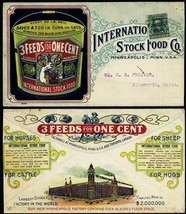 International Stock Food Co. Vivid Multicolor Advertising Cover - Stuart... - $125.00