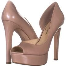 Jessica Simpson Martella Platform Heels 395, Nude Blush Patent, 7.5 US - $33.59