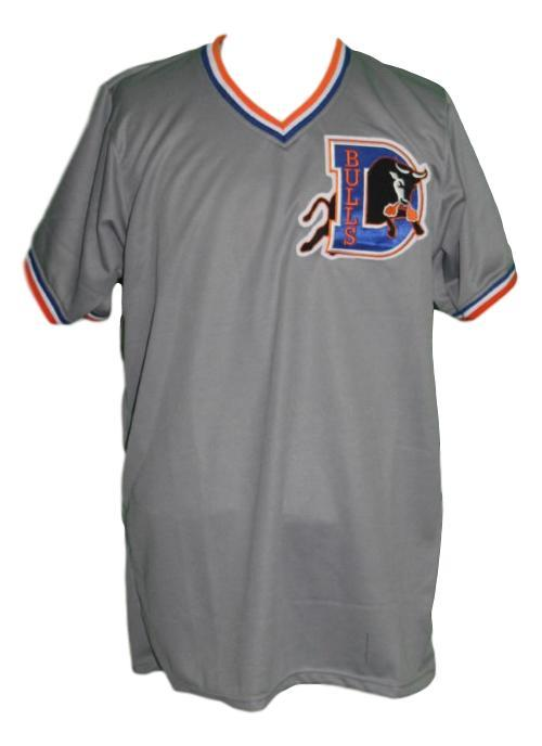 Crash davis bull durham movie baseball jersey grey   1