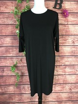 Ralph Lauren Little Black Dress Medium Classic Stretch Modest Church Car... - $49.97