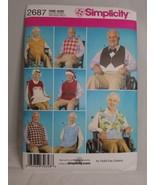 Simplicity Sewing Pattern 2687 Adult BIB Clothing Protector Santa Hat Uncut - $9.99