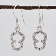 classy White CZ 925 Sterling Silver White Earring genuine india CA gift - $11.05