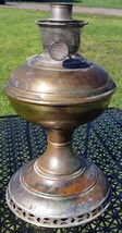 Antique Aladdin Model 6 Brass Oil Lamp Font & Burner Part Assembly - $35.00