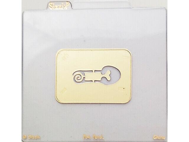 Sizzix Metal Embossing Plate, Diaper Pin #38-9528