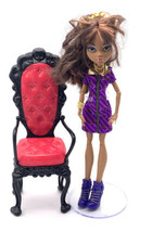 Monster High Coffin Bean Lot With Clawdeen Wolf And Chair - $19.80