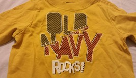 Old Navy Boys Tee Shirt Size 6-12 Months Baby Infants Yellow - $10.98