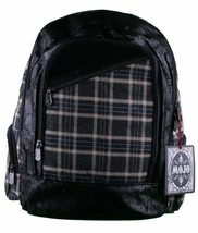 MOJO Flannel and Fleece Plaid Book Bag School Backpack