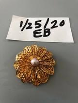 Vintage Goldtone Faux Pearl Scarf Clip - $7.91