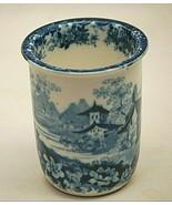 Minton Genevese England Cup Blue Flowers Landscape Vintage Gorgeous RARE... - $34.64