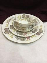 Wedgwood Lichfield bone china FOUR piece place setting  4156 - $33.85