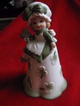 Vintage Porcelain Shamrock Little Irish Girl Bell - $9.46