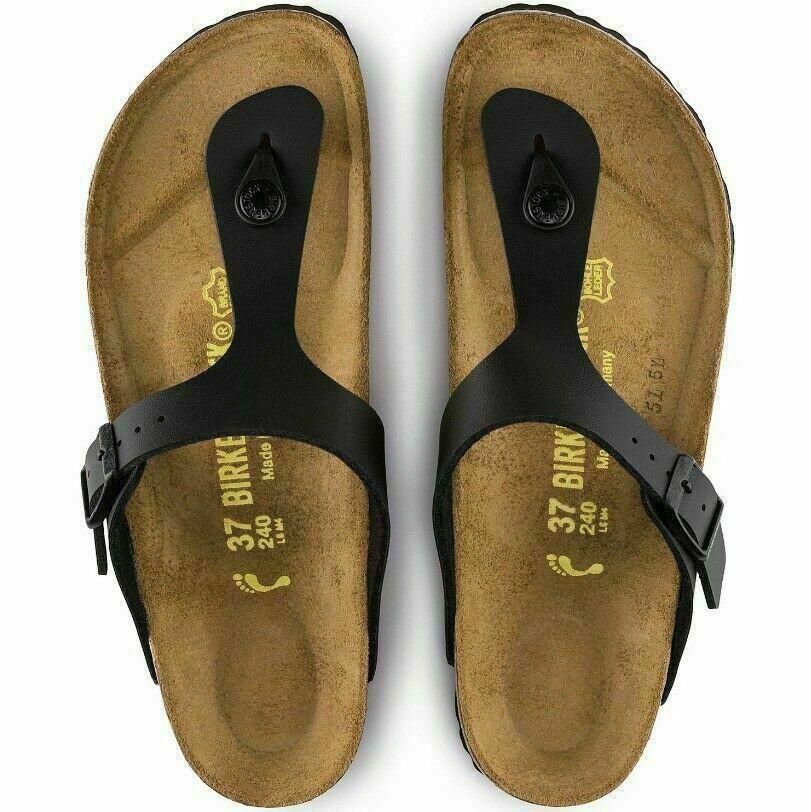 Birkenstock Gizeh Black Women's Leather Sandal Shoe Size US 10 image 2