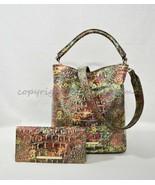 SET of Brahmin Amelia Satchel/Shoulder Bag + Ady Wallet in Ammolite Melbourne - $399.00