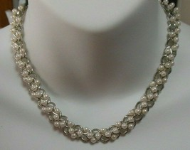 Vintage Signed Richlieu Faux Pearl luster Necklace - $21.99