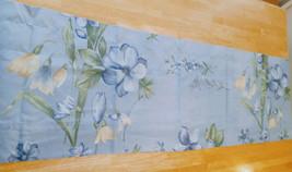 Vintage Dan River Blue Gold Botanical Floral Blouson / Tailored Valance ... - $22.76