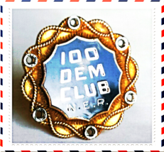 COLLECTORS Early 1900's VINTAGE DEMOCRAT PIN~10% of 10K GOLD~100 DEM CLU... - $65.00