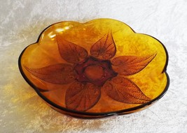 "Anchor Hocking Renaissance 8"" Beaded Leaf Bowl Vintage Dishware - $19.99"