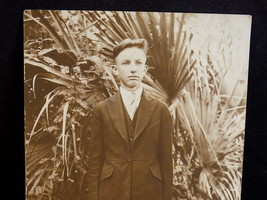 VINTAGE EARLY 1900's RPPC PHOTO of BOY UNSTAMPED REAL SNAPSHOT Southern Boy - $26.72