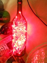 """WINE BOTTLE with Red LIGHTS 14"""" height...Unusual Lamp Item---FREE POSTAG... - $17.41"""