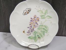 """Lenox Butterfly Meadow Dinner Plates 9"""" Purple Wisteria - $11.88"""