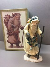 Department 56 Kris Kringle Sculpture with Walking Stick Sack of Toys Ori... - $43.75