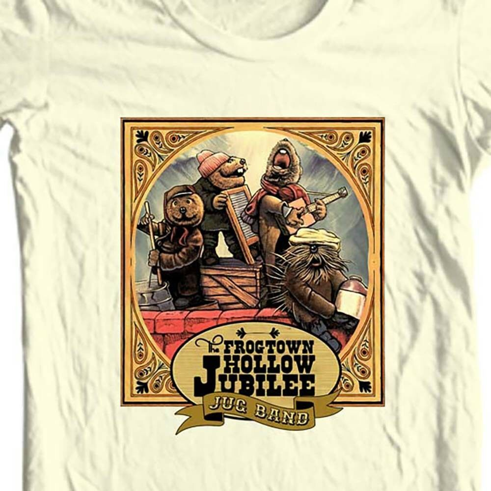 The Frogtown Hollow Jubilee Jug Band T-shirt retro emmett otter Christmas tee